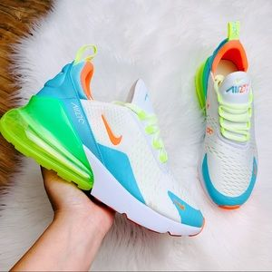 Nike Air Max 270 Blue Gaze Barely Volt